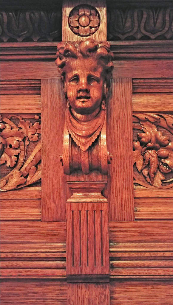 Carving inside the Nickerson Mansion