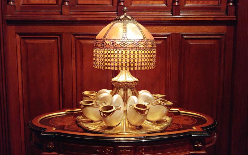 Extremely rare Tiffany Nautilus lamp