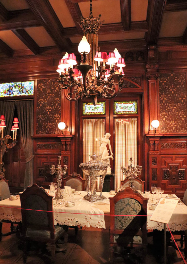 Dining Room in the Nickerson Mansion, now known as the Driehaus Museum