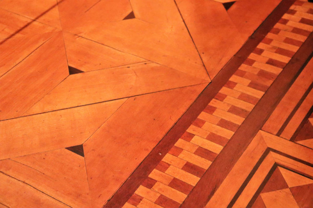Nickerson Mansion parquet floor detail - now it's the Driehaus Museum