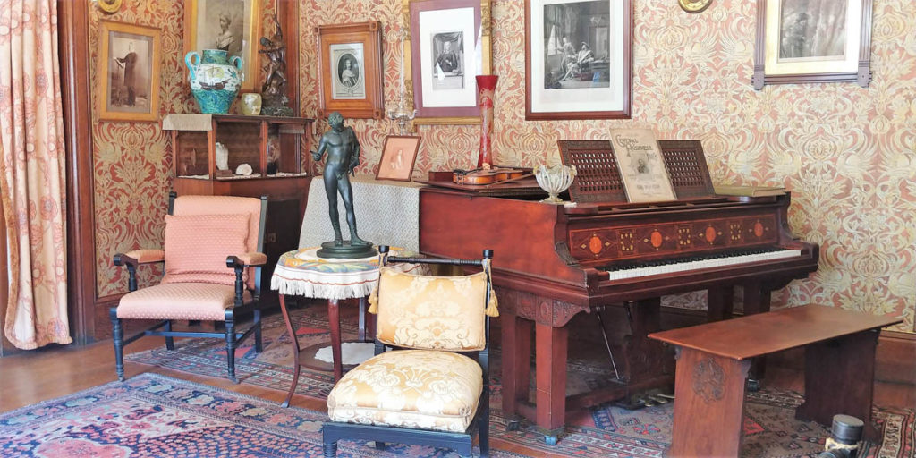 Glessner House parlor, including the Steinway Piano