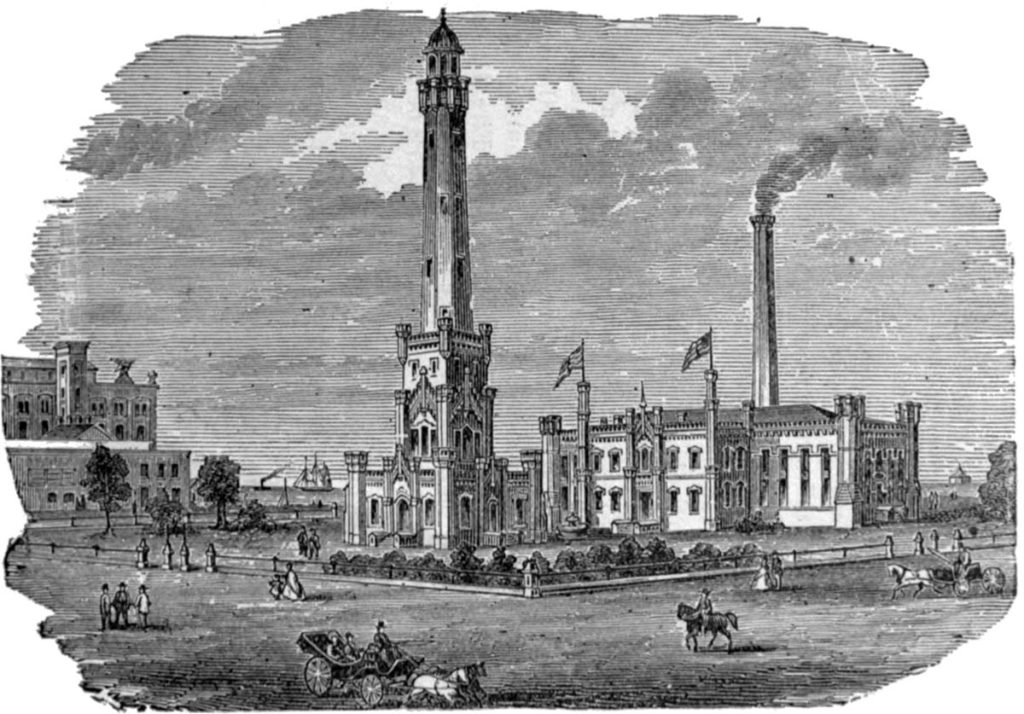 Chicago Water Tower and Pumping Station designed by William Boyington
