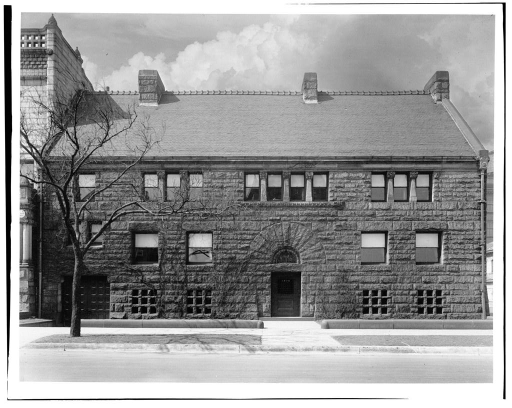 Exterior of the Glessner House circa 1923