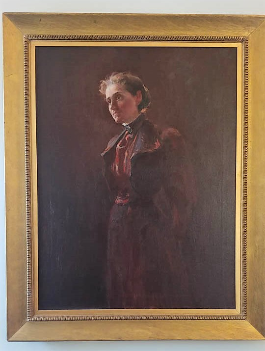portrait of Jane Addams by Alice Kellogg Tyler from 1892, which hangs in the entryway of Hull-House Museum