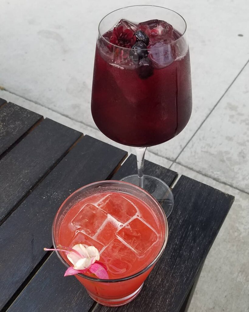 Wildflower Sangria and Dos Santos. (Photo by Gourmet Rambler)