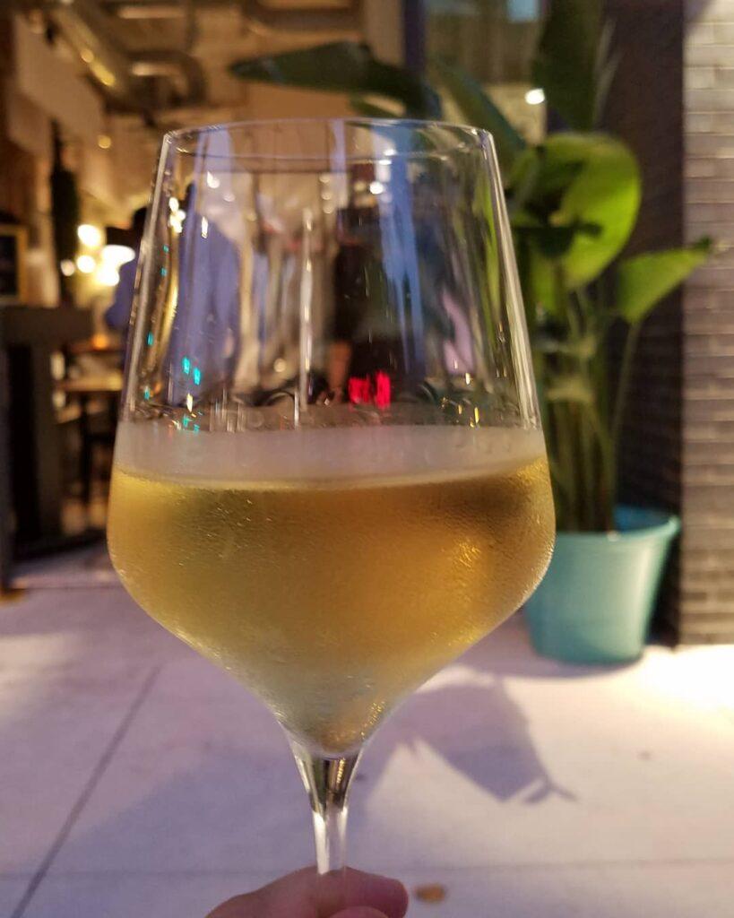 Wine at Edie's. (Photo by Gourmet Rambler)