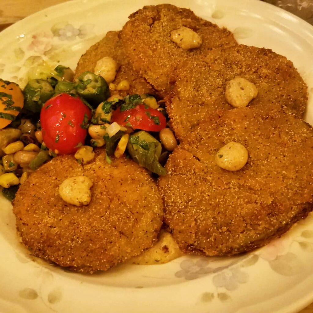 Fried green tomatoes at The Delta (Photo by Gourmet Rambler)