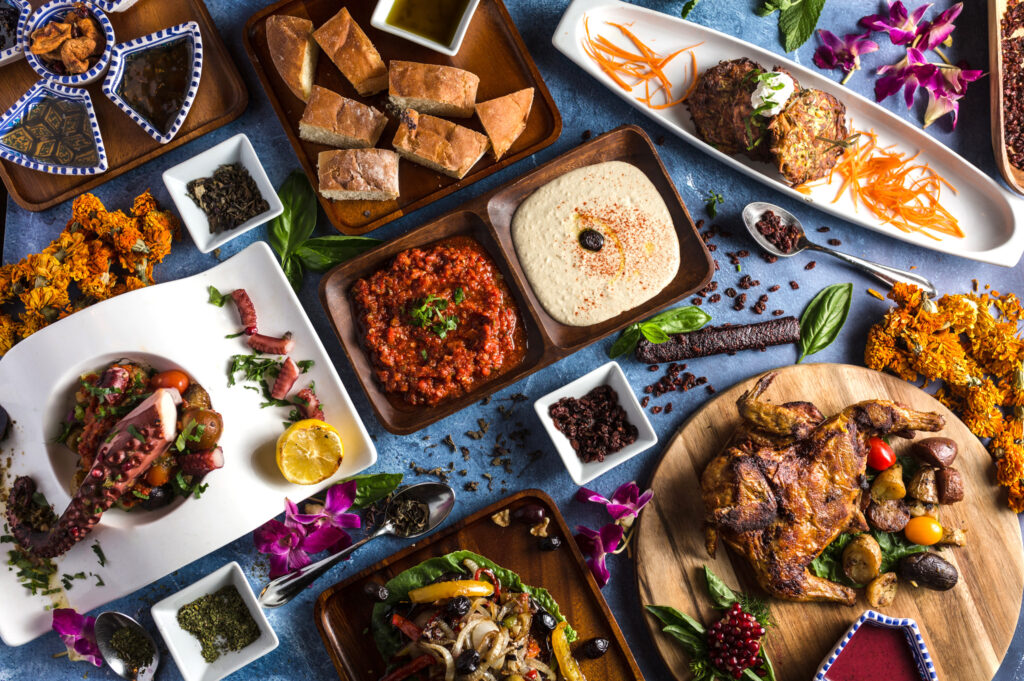 A variety of food items from Oda Mediterranean Cuisine