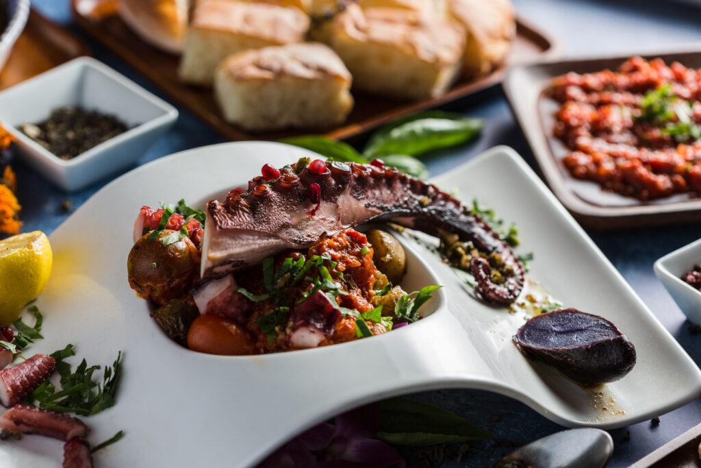 Charred Spanish Octopus at Oda Mediterranean Cuisine