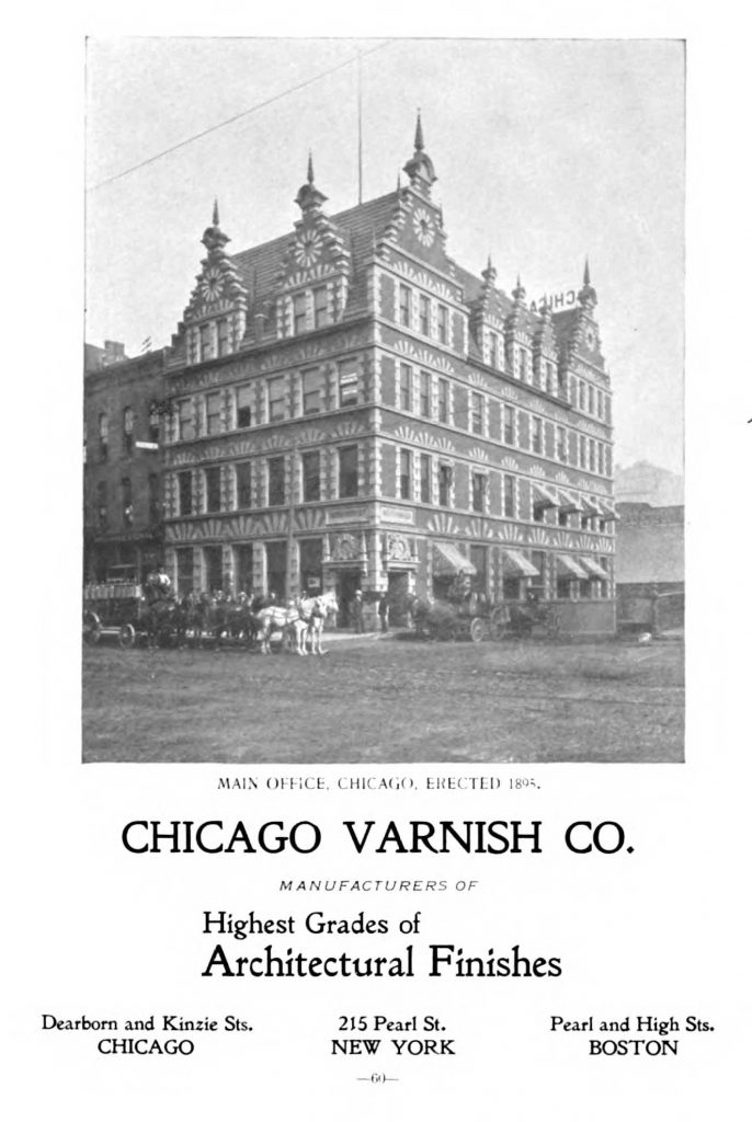Ad for Chicago Varnish Company from 1897