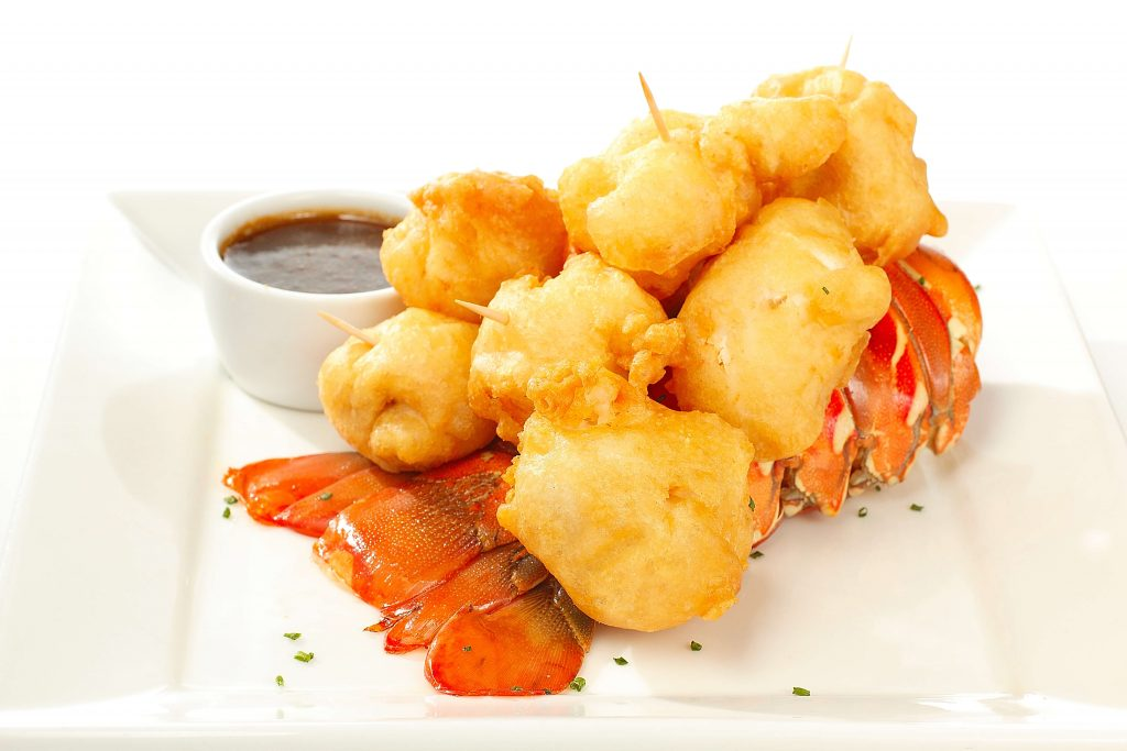 Lobster tempura at Perry's Steakhouse and Grille in Schaumburg, IL.