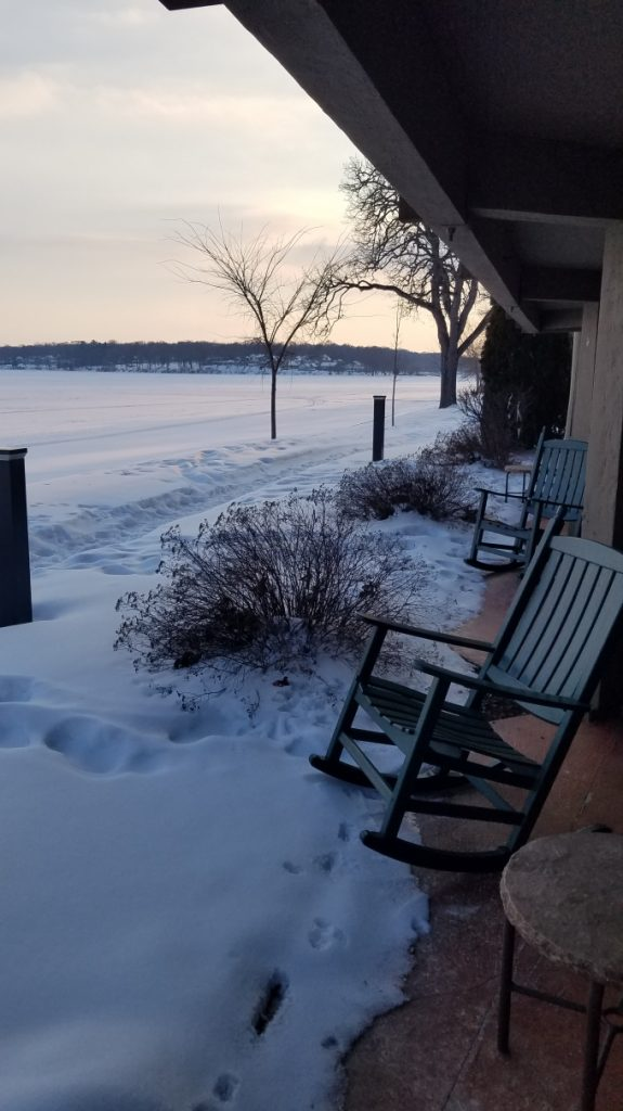 View from the room at Lake Lawn Resort (Photo by Gourmet Rambler)