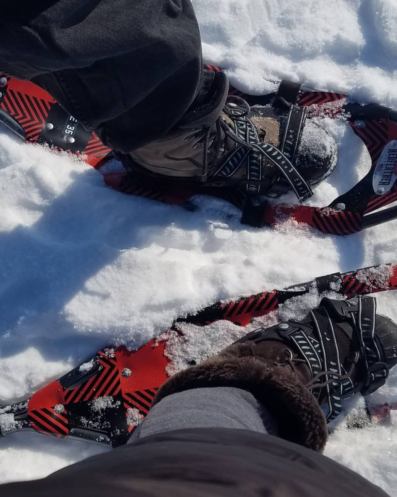 Snowshoeing on Delavan Lake (Photos by Gourmet Rambler)