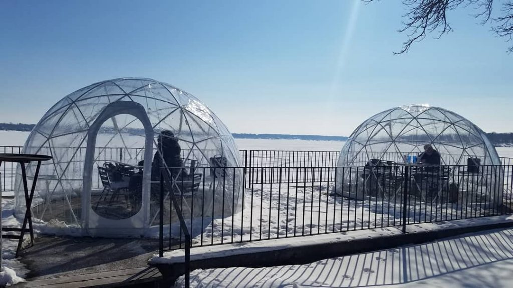 Igloo dining at Lookout Bar (Photos by Gourmet Rambler)