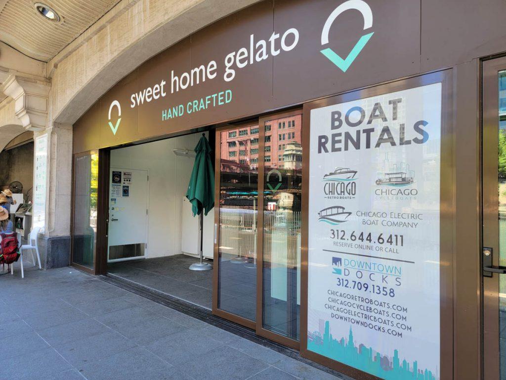 Sweet Home Gelato on the Chicago Riverwalk