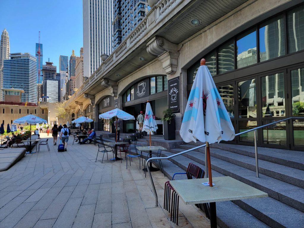 Tiny Tapp, one of several Chicago Riverwalk restaurants