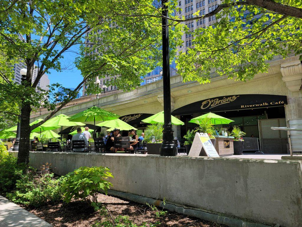 O'Brien's, a perennial favorite restaurant on the Chicago Riverwalk