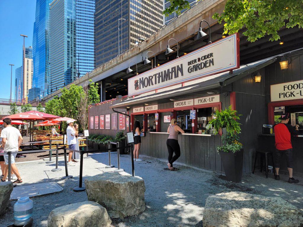 The Northman, cider bar on the Chicago Riverwalk east of Michigan Avenue