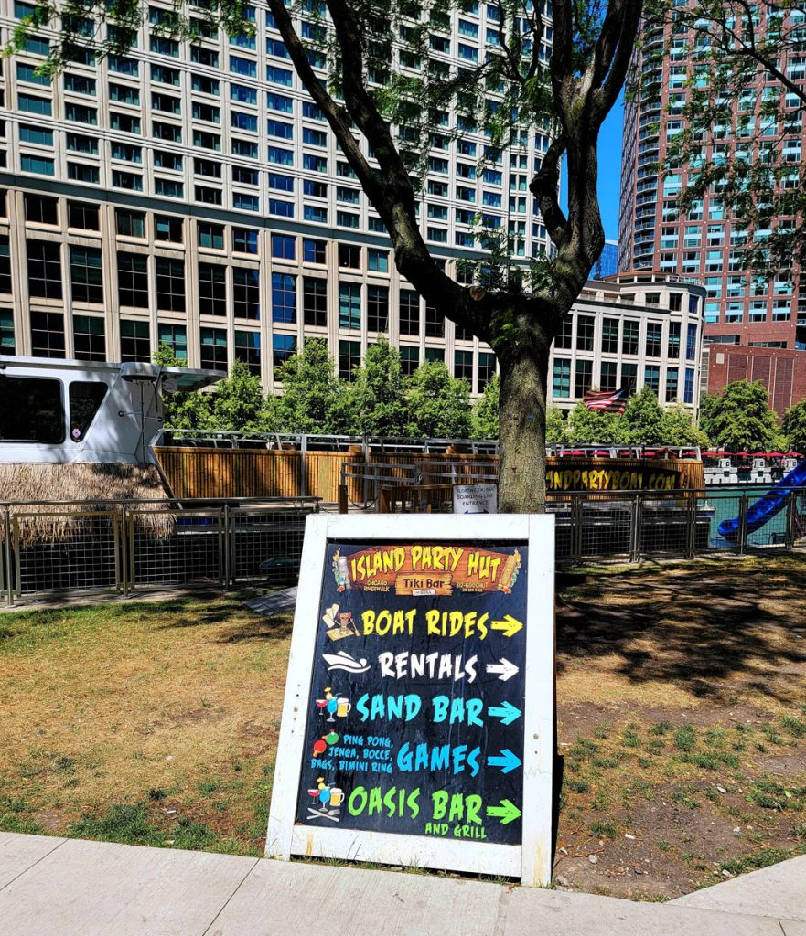 Island Party Hut on the Chicago Riverwalk