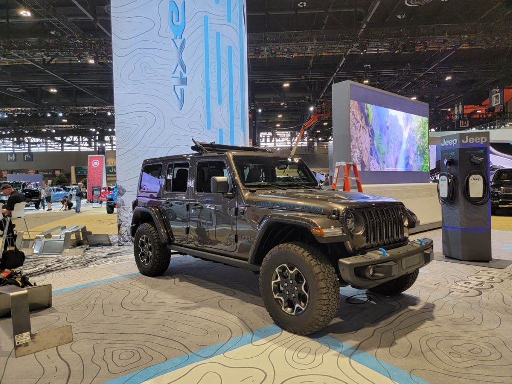 One of the many Jeeps at the Chicago Auto Show