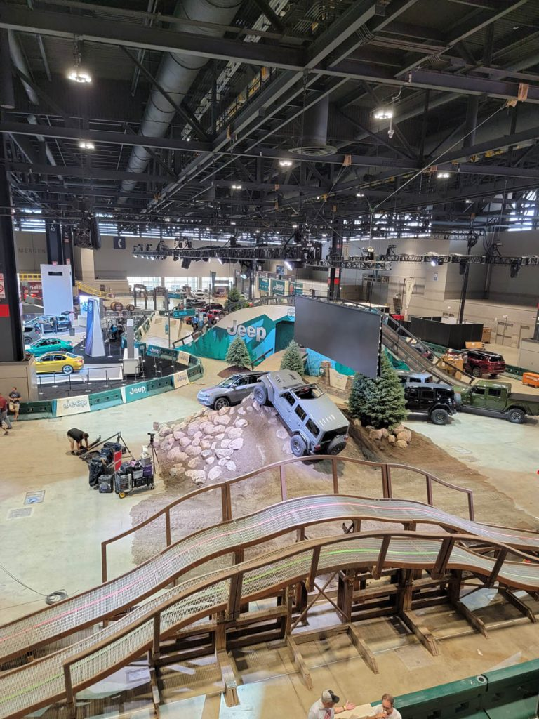 Birds eye view of the Chicago Auto Show