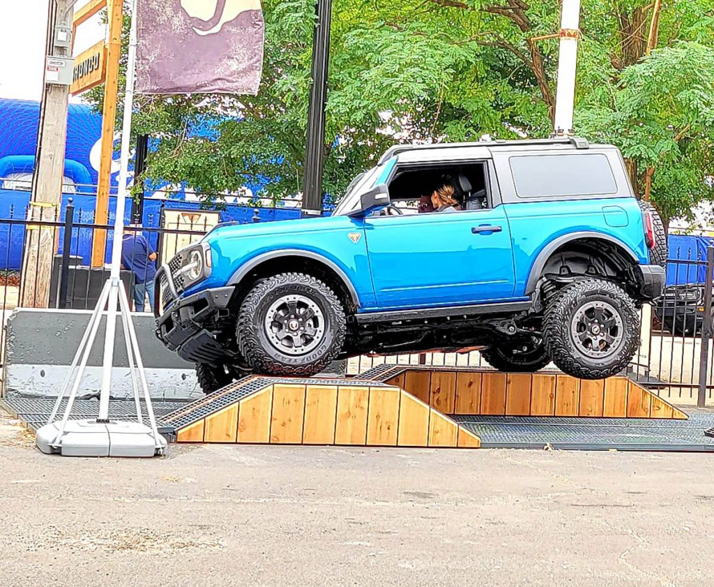 Sport Bronco riding the Ford Built Wild Track