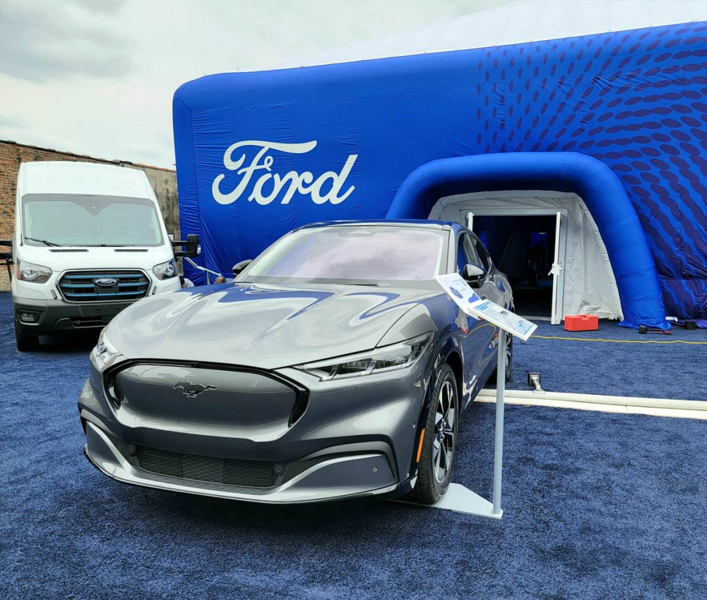 The Ford Mach-e at the Ford Built to Electrify