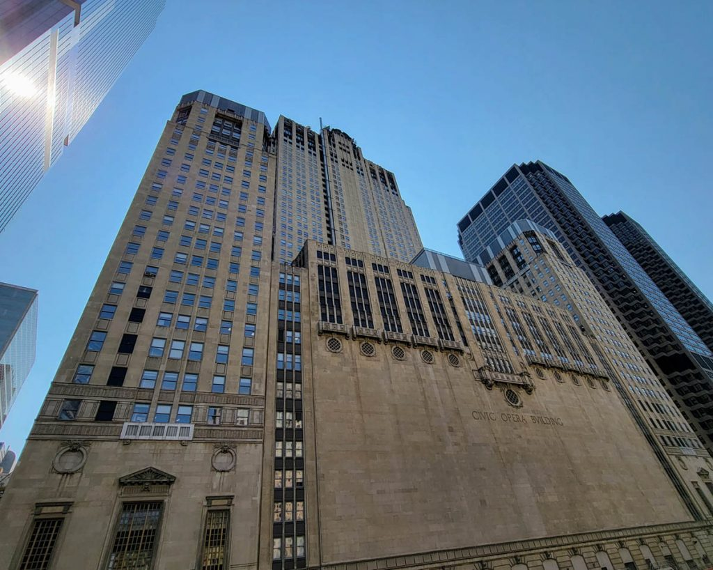 Civic Opera Building from a Chicago River cruise