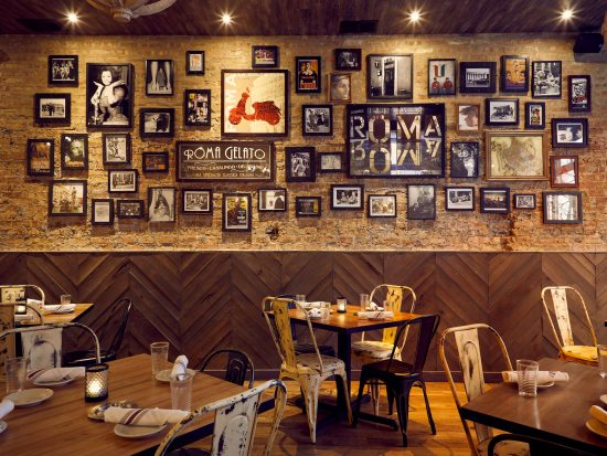 Interior of Bar Roma Chicago