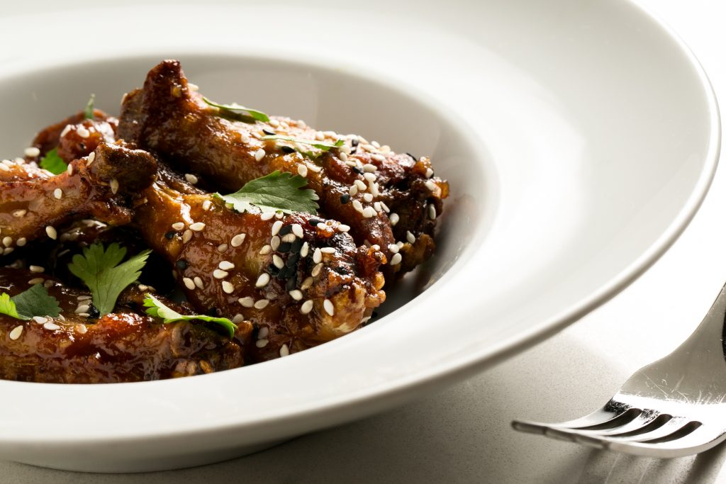 Soy Ginger Chicken Wings at the J. Parker